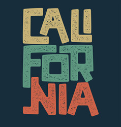california t-shirt graphic design vector image vector image