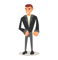 cool cartoon guy with in casual clothes vector image