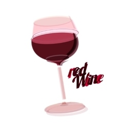 red wine glass poster vector image