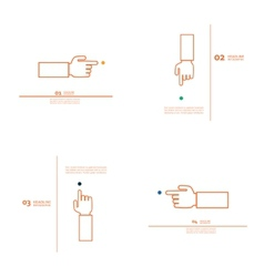 Set of hand with index finger vector image vector image