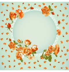 Vintage floral background with roses vector image vector image
