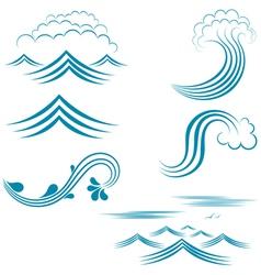 Water Wave Set vector image vector image