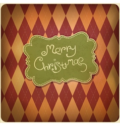 xmas retro card vector image