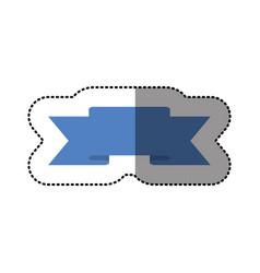 color symbol ribbon icon vector image