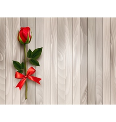 Happy Valentines day Beautiful red rose and gift vector image