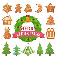 set of different christmas vector image vector image
