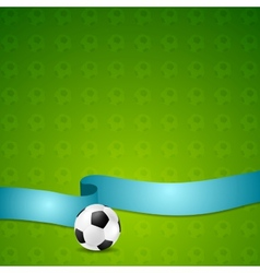 Soccer football background vector image
