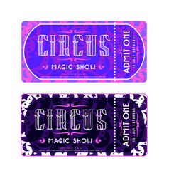 template for circus ticket vector image