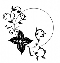 vector floral frame vector image vector image