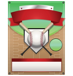 baseball tournament flyer background vector image vector image