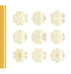 Elegant floral mandala background with gold vector image