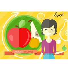 Healthy lifestyle foods concept vector image vector image