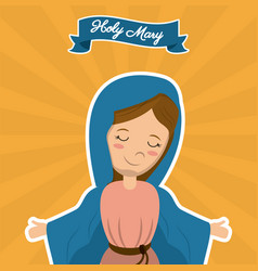 holy mary christian mother saint image vector image vector image