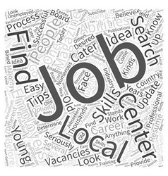 JH successful local job search Word Cloud Concept vector image vector image