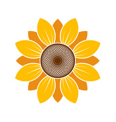 logo and symbol of sunflower for thanksgiving day vector image
