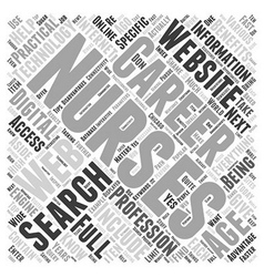 Nursing career websites Word Cloud Concept vector image vector image