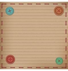 Scrapbooking Vintage cardboard card buttons vector image