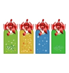 Set tag with bow vector image