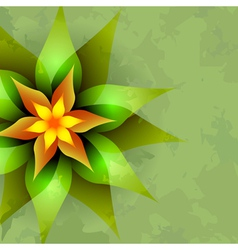 Vintage background with abstract flower vector image