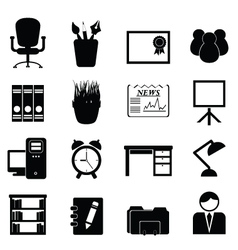 Workspace Office Icons vector image
