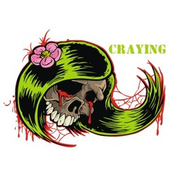 crying skull vector image vector image