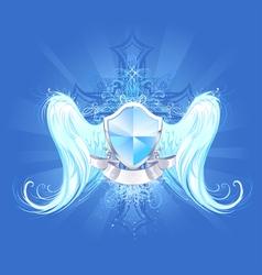 crystal shield vector image vector image