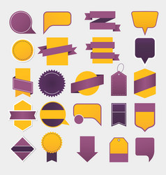 empty ribbons tags and labels advertising vector image vector image