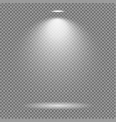 light effect on transparent background bright vector image vector image