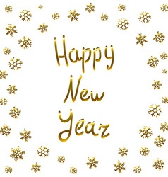 2016 Happy New Year gold card greeting decoration vector