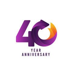 40 years anniversary gradient purple template vector