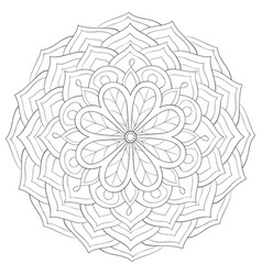 Adult coloring bookpage a zen mandala image vector