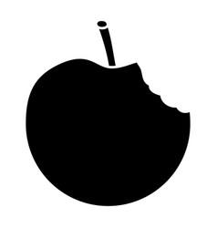 Apple bitten fruit icon image vector