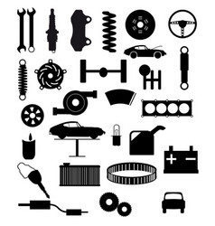 Auto service items vector