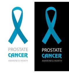 Awareness Blue Ribbon World Prostate Cancer Day vector image