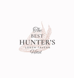 best hunter tavern abstract sign symbol or vector image