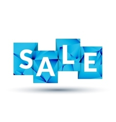 Blue SALE labels promotional concept vector image