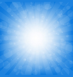 blue sunburst background vector image