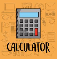 Calculator machine maths financial business vector