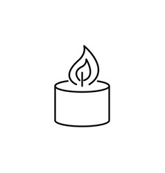 candle burning flame outline icon signs and vector image