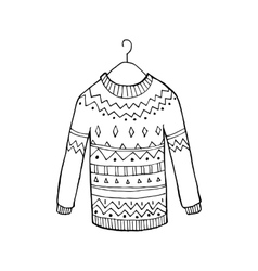 Christmas sweater vector
