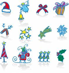 Christmas utilities vector image