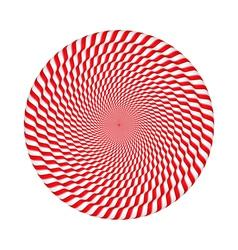 Circles made candy canes vector