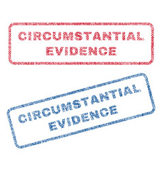 circumstantial evidence textile stamps vector image