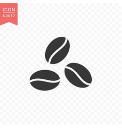 Coffee beans icon simple flat style vector
