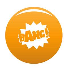 comic boom bang icon orange vector image