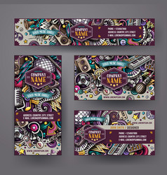 Corporate identity set design with doodles vector