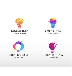 Creative idea set logo beauty logo color idea logo vector