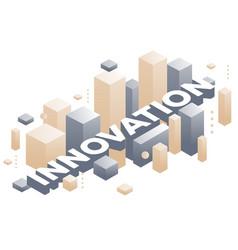 Creative three dimensional word innovation vector