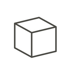 cube icon line 3d box symbol vector image