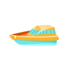 Cutter toy boat vector